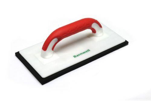 "Barnwell Sponge Float Dense Rubber Black 11"" with Red Soft Grip Handle"